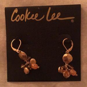 Dangle Earrings- Silver, Pink and Purple